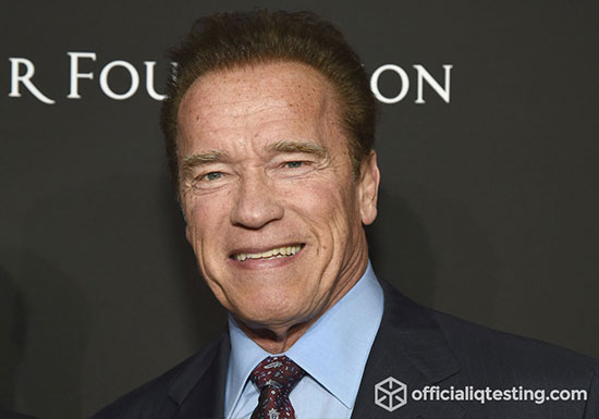 Arnold Schwarzenegger - 134 IQ
