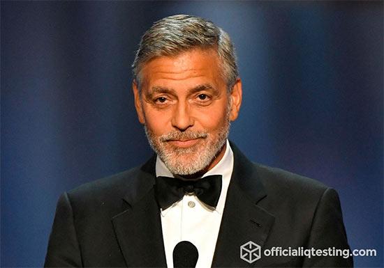 George Clooney - 127 IQ